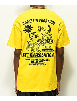 Open925 Sean & Sal's Bail Bonds Yellow T Shirt by Open925