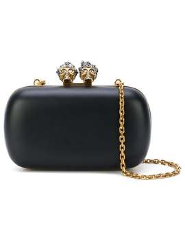 Queen And King Skeleton Box Clutch by Alexander Mc Queen