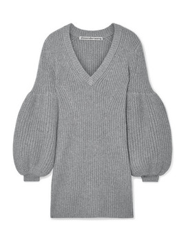 Cable Knit Wool Blend Mini Dress by Alexander Wang