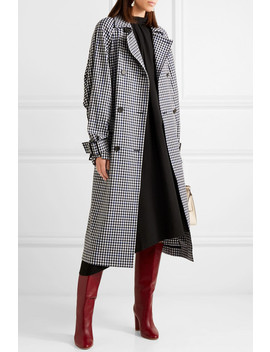 Gingham Twill Trench Coat by Tibi
