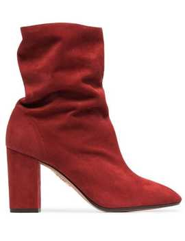 Boogie 85 Suede Ankle Boots by Aquazzura