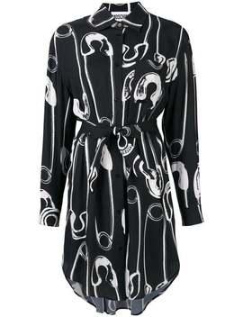 Safety Pins Print Shirt Dress by Moschino