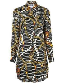 Jewellery Print Shirt Dress by Moschino