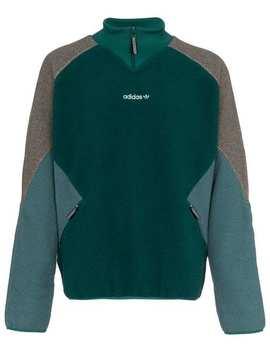 Eqt Polar Logo Embroidered Fleece Jacket by Adidas