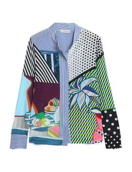 Printed Silk Chiffon Shirt by Mary Katrantzou