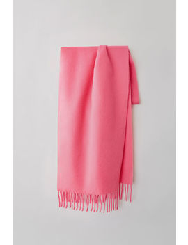 Narrow Fringed Scarf Pink/Fluo Pink by Acne Studios