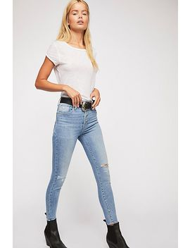 Levi's Mile High Exposed Fly Skinny Jeans by Free People