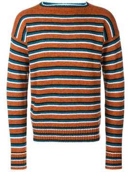 Striped Long Sleeve Jumper by Prada