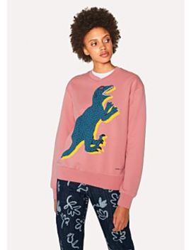 Women's Pink Large 'dino' Print Cotton Sweatshirt by Paul Smith