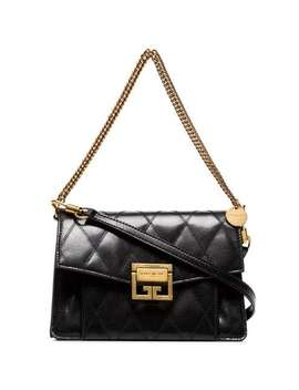 Black Gv3 Small Quilted Leather Shoulder Bag by Givenchy