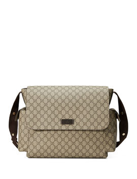 Guccissima Faux Leather Diaper Bag W/ Changing Pad by Gucci