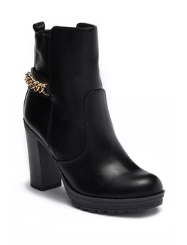Greedy Block Heel Bootie by G By Guess