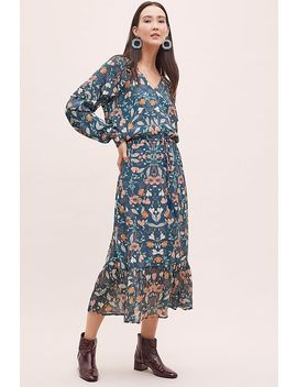 Kachel Winter Floral Print Maxi Dress by Anthropologie