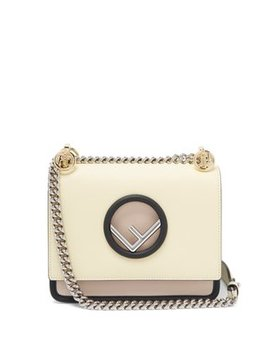Kan I Mini Leather Cross Body Bag by Fendi