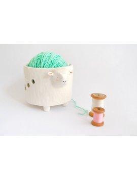 Schale Keramik Lanero Schaf Geformt, Keramikschale Kugeln, Schüssel Weben Weiße Schafe. Wolle Schüssel. Sofort Lieferbar by Etsy