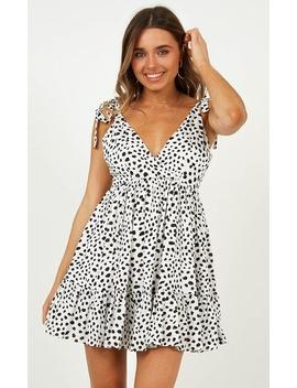 Taking It Slowly Dress In White Print by Showpo Fashion