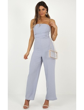 Thing Called Love Jumpsuit In Blue by Showpo Fashion