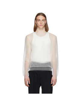 White Sheer Turtleneck by Jil Sander