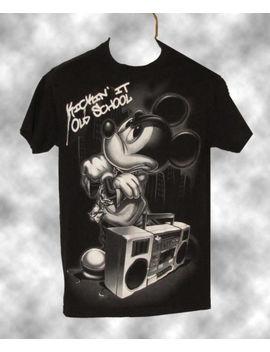 "Mickey Mouse ""Kickin' It Old School"" T   Shirt   Size Men's Medium by Disney"