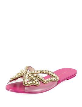 Madame Embellished Butterfly Flat Slide Sandals by Sophia Webster