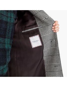 Ludlow Topcoat In Glen Plaid Wool by J.Crew