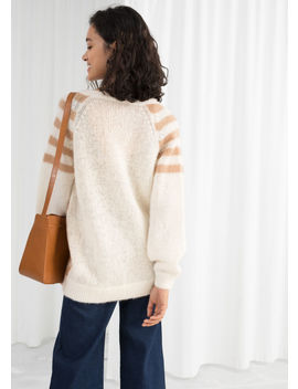 Oversized Chevron Stripe Sweater by & Other Stories