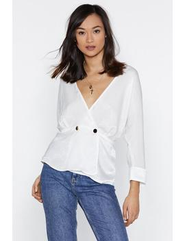 You've Got To V In It Satin Blouse by Nasty Gal