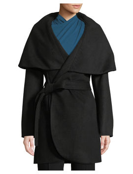 Marla Belted Wool Coat by Neiman Marcus