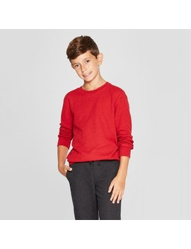 Boys' Thermal Long Sleeve T Shirt   Cat & Jack™ by Cat & Jack