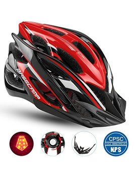 Basecamp Specialized Bike Helmet With Safety Light, Cpsc Certified, Adjustable Sport Cycling Helmet Bicycle Helmets For Road & Mountain For Men & Women, Safety Protection by Basecamp