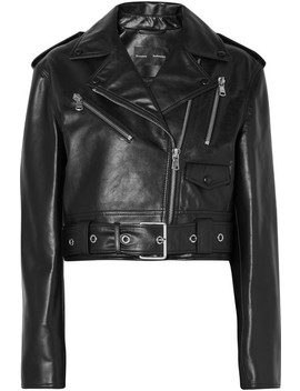Cropped Leather Biker Jacket by Proenza Schouler