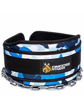 """D Moose Fitness Premium Dip Belt With Chain – 36"""" Heavy Duty Steel Chain, Comfort Fit Neoprene, Double Stitching – Maximize Your Weightlifting & Bodybuilding Workouts by D Moose Fitness"""