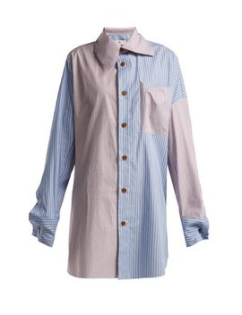Monti Striped Patchwork Shirt by Vivienne Westwood