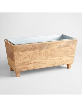 Wood Trough Wine Chiller by World Market