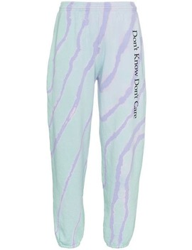 Don't Know Don't Care Cotton Track Trousers by Ashley Williams