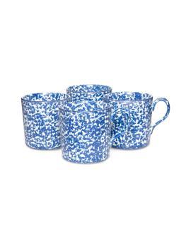 Set Of 4 Spongeware Coffee Mugs by Tory Burch