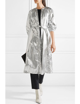Metallic Shell Trench Coat by Opening Ceremony