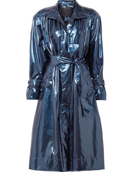 Belted Metallic Vinyl Trench Coat by Marc Jacobs