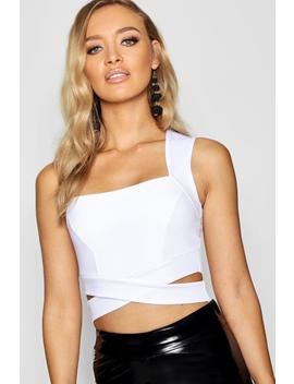 Square Neck Cut Out Bralet by Boohoo