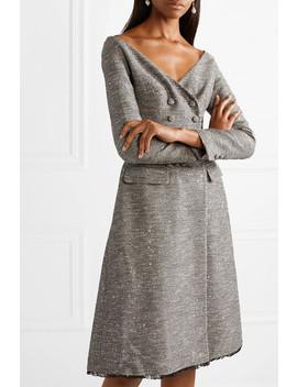 Sequin Embellished Tweed Dress by Lela Rose