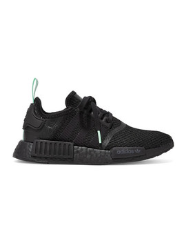Nmd R1 Rubber And Leather Trimmed Stretch Knit Sneakers by Adidas Originals