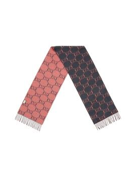 Double G Logo Wool Scarf by Gucci