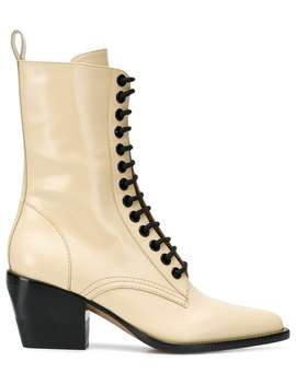 Lace Fastened Boots by Chloé