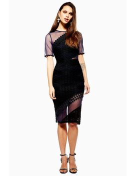 honeycomb-airtex-midi-dress by topshop