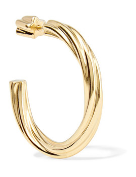 Arsiia Gold Plated Hoop Earring by Maria Black
