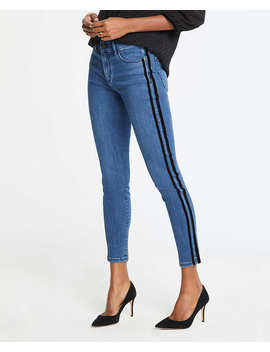 Tall Modern Velvet Side Stripe All Day Skinny Jeans by Ann Taylor