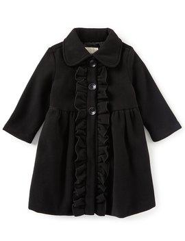 Little Girls 2 T 6 X Ruffle Front Coat by Copper Key