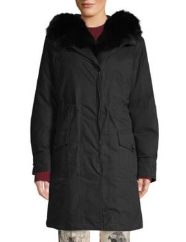 Hypolais Fur Lined Hooded Parka by Moncler