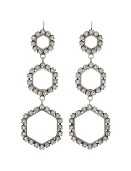 Silver Triple Circle Drop Earrings by Isabel Marant