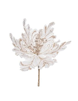 "Vickerman 551257 17"" White Poinsettia 14"" Flower 3/Bg (Of180101) Home Office Flowers by Vickerman"